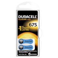 Батарейка для слухового аппарата DURACELL EasyTab 675 6шт