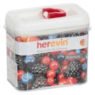 Ёмкость для сыпучих продуктов HEREVIN Luxor White 1.2л (161178-001)
