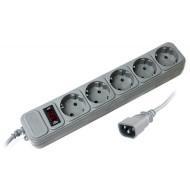 Сетевой фильтр-удлинитель для ИБП GEMBIRD SPX3-B-15PP Gray 4.5м