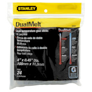 Термоклей STANLEY DualMelt ø11.3мм 24шт (1-GS20DT)