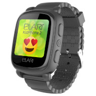 Часы-телефон детские ELARI KidPhone 2 Black (KP-2B)