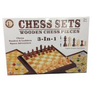 Игра настольная SAME TOY 3-в-1 Шахматы, шашки, мельница (518UT)