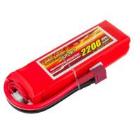Аккумулятор DINOGY Sport 2200мАч 11.1В T-Plug (DLC-3S2200D-T)
