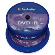 DVD+R VERBATIM Matt Silver 4.7GB 16x 120min 50pcs/spindle (43550)