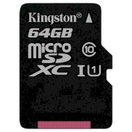 Карта памяти KINGSTON microSDXC Canvas Select 64GB UHS-I Class 10 (SDCS/64GBSP)