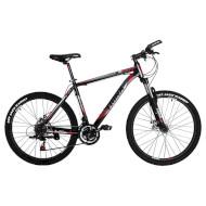 "Велосипед TRINX Majestic M136 Matte Black/Gray/Red 26"""