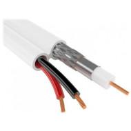 Коаксиальный кабель KINGDA RG6+2C 100м