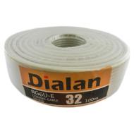 Коаксиальный кабель DIALAN RG6U-E 32 100м
