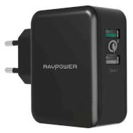 Зарядний пристрій RAVPOWER Qualcomm Quick Charge 3.0 (4X Faster) 30W Dual USB Plug Wall Charger Black (RP-PC006-BK)