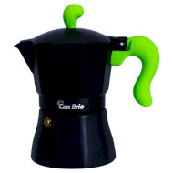Кофеварка гейзерная CON BRIO CB-6603 Green