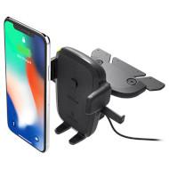 Автодержатель для смартфона с беспроводной зарядкой IOTTIE One Touch 4 Wireless Qi Charging CD Mount (HLCRIO136AM)
