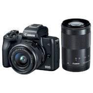Фотоаппарат CANON EOS M50 Black Kit EF-M 15-45mm f/3.5-6.3 IS STM + EF-M 55-200mm f/4.5-6.3 IS STM (2680C054)