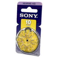 Батарейка для слухового аппарата SONY PR10D6A 6шт