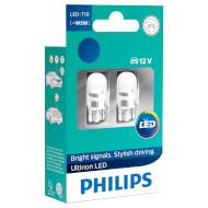 Лампа светодиодная PHILIPS Ultinon LED T5W 2шт (11961ULW4X2)