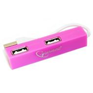 USB хаб GEMBIRD UH-008 Pink