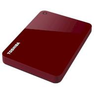 Портативный жёсткий диск TOSHIBA Canvio Advance 1TB USB3.0 Red (HDTC910ER3AA)