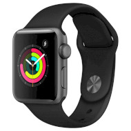 Смарт-часы APPLE Watch Series 3 38mm Space Gray with Black Sport Band (MTF02FS/A)