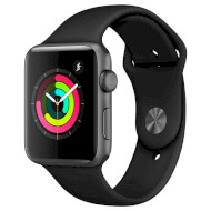 Смарт-часы APPLE Watch Series 3 42mm Space Gray with Black Sport Band (MTF32FS/A)