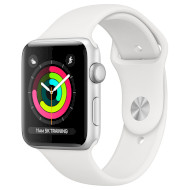 Смарт-часы APPLE Watch Series 3 38mm Silver with White Sport Band (MTEY2FS/A)