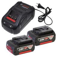 Зарядное устройство с АКБ BOSCH GAL 1880 CV Professional + 2 акк. GBA 18V 5.0Ah (1.600.A00.B8J)