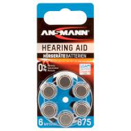 Батарейка для слухового аппарата ANSMANN 675 6шт