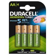Аккумулятор DURACELL Turbo AA 2500мАч 4шт/уп (5000394057203)