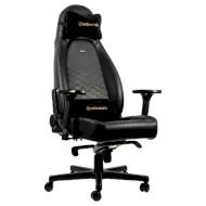 Кресло геймерское NOBLECHAIRS Icon Black/Gold (GAGC-102)