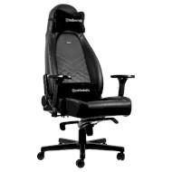 Кресло геймерское NOBLECHAIRS Icon Black/Platinum (GAGC-086)