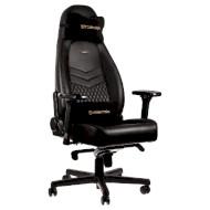 Кресло геймерское NOBLECHAIRS Icon Real Leather Black (GAGC-090)