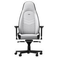Крісло геймерське NOBLECHAIRS Icon White/Black (GAGC-126)