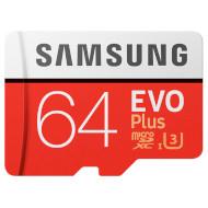 Карта памяти SAMSUNG microSDXC EVO Plus 64GB UHS-I U3 Class 10 + SD-adapter (MB-MC64GA/RU)