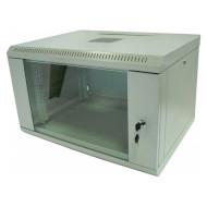 "Настінна шафа 19"" HYPERNET WMNC-6U-Flat (6U, 600x450мм, RAL7035)"