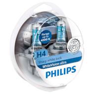 Лампа галогенная PHILIPS WhiteVision Ultra H4 2шт (12342WVUSM)