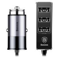 Автомобильное зарядное устройство BASEUS Enjoy Together 5.5A Dark Gray