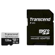 Карта пам'яті TRANSCEND microSDXC 330S 128GB UHS-I U3 V30 A2 Class 10 + SD-adapter (TS128GUSD330S)