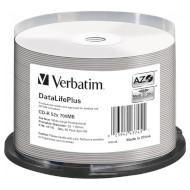 CD-R VERBATIM DataLifePlus Wide Inkjet Printable 700MB 52x 80min 50pcs/spindle (43745)