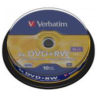 DVD+RW VERBATIM Matt Silver 4.7GB 4x 120min 10pcs/spindle (43488)