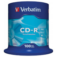 CD-R VERBATIM Extra Protection 700MB 52x 80min 100pcs/spindle (43411)