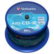 CD-R VERBATIM AZO Crystal 700MB 52x 80min 50pcs/spindle (43343)