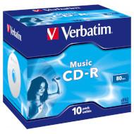 CD-R VERBATIM Music 700MB 16x 80min 10pcs/jewel (43365)