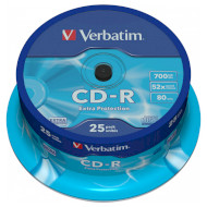 CD-R VERBATIM Extra Protection 700MB 52x 80min 25pcs/spindle (43432)