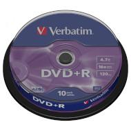 DVD+R VERBATIM Matt Silver 4.7GB 16x 120min 10pcs/spindle (43498)
