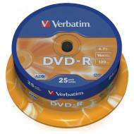 DVD-R VERBATIM Matt Silver 4.7GB 16x 120min 25pcs/spindle (43522)