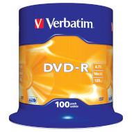 DVD-R VERBATIM Matt Silver 4.7GB 16x 120min 100pcs/spindle (43549)