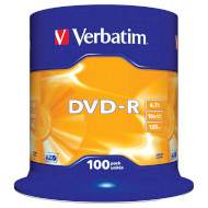 DVD-R VERBATIM AZO 4.7GB 16x 100pcs/spindle (43549)
