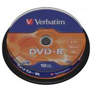DVD-R VERBATIM Matt Silver 4.7GB 16x 120min 10pcs/spindle (43523)