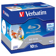 BD-R DL VERBATIM Wide Inkjet Printable 50GB 6x 10pcs/jewel (43736)