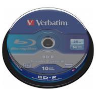 BD-R SL VERBATIM DataLife 25GB 6x 10pcs/spindle (43742)