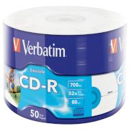 CD-R VERBATIM DataLife Inkjet Printable 700MB 52x 80min 50pcs/wrap (43794)