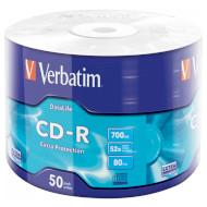 CD-R VERBATIM Extra Protection 700MB 52x 50pcs/wrap (43787)